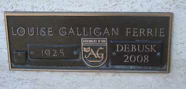 GALLIGAN FERRIE DEBUSK, LOUISE - Coconino County, Arizona | LOUISE GALLIGAN FERRIE DEBUSK - Arizona Gravestone Photos