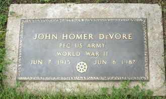 DEVORE, JOHN HOMER - Coconino County, Arizona | JOHN HOMER DEVORE - Arizona Gravestone Photos
