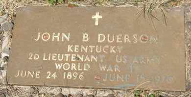 DUERSON, JOHN B., SR. - Coconino County, Arizona   JOHN B., SR. DUERSON - Arizona Gravestone Photos