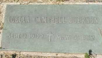 CAMPBELL DUERSON, LUELLA - Coconino County, Arizona | LUELLA CAMPBELL DUERSON - Arizona Gravestone Photos