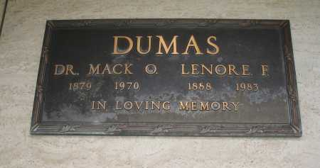 DUMAS, DR. MACK O. - Coconino County, Arizona | DR. MACK O. DUMAS - Arizona Gravestone Photos