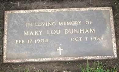 DUNHAM, MARY LOU - Coconino County, Arizona | MARY LOU DUNHAM - Arizona Gravestone Photos