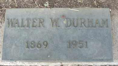 DURHAM, WALTER W. - Coconino County, Arizona | WALTER W. DURHAM - Arizona Gravestone Photos