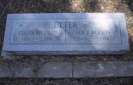 ETTER, ALICE - Coconino County, Arizona | ALICE ETTER - Arizona Gravestone Photos