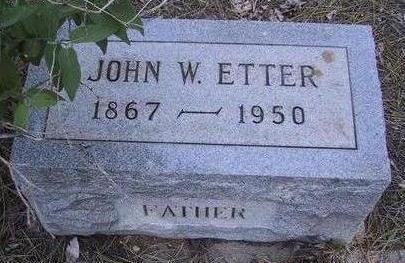 ETTER, JOHN W. - Coconino County, Arizona   JOHN W. ETTER - Arizona Gravestone Photos