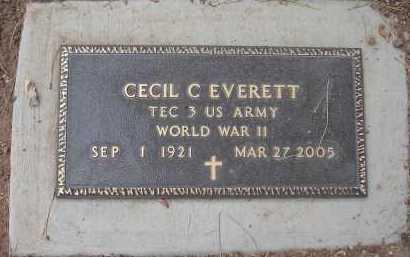 EVERETT, CECIL C - Coconino County, Arizona | CECIL C EVERETT - Arizona Gravestone Photos