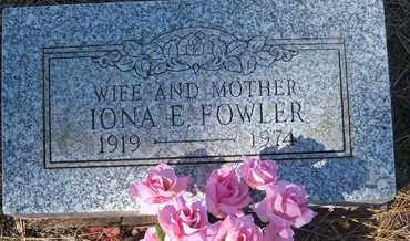 FOWLER, IONA E. - Coconino County, Arizona | IONA E. FOWLER - Arizona Gravestone Photos