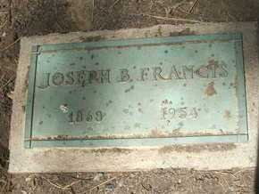 FRANCIS, JOSEPH B. - Coconino County, Arizona | JOSEPH B. FRANCIS - Arizona Gravestone Photos