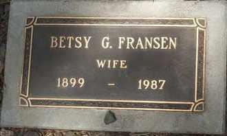 FRANSEN, BETSY G. - Coconino County, Arizona | BETSY G. FRANSEN - Arizona Gravestone Photos