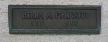 FRONSKE, HILDA A. - Coconino County, Arizona   HILDA A. FRONSKE - Arizona Gravestone Photos