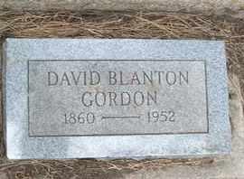 GORDON, DAVID BLANTON - Coconino County, Arizona | DAVID BLANTON GORDON - Arizona Gravestone Photos