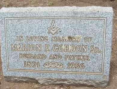 GORDON, SR., MARION F. - Coconino County, Arizona | MARION F. GORDON, SR. - Arizona Gravestone Photos