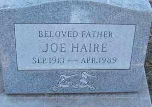 HAIRE, JOE - Coconino County, Arizona | JOE HAIRE - Arizona Gravestone Photos
