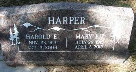 HARPER, HAROLD E - Coconino County, Arizona | HAROLD E HARPER - Arizona Gravestone Photos