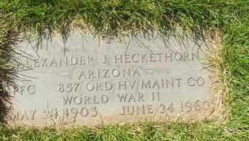 HECKETHORN, ALEXANDER J. - Coconino County, Arizona | ALEXANDER J. HECKETHORN - Arizona Gravestone Photos
