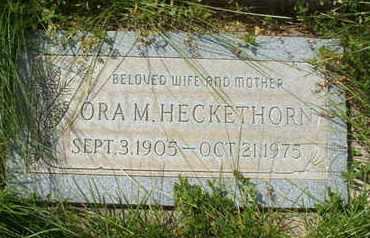HECKETHORN, ORA M. - Coconino County, Arizona   ORA M. HECKETHORN - Arizona Gravestone Photos
