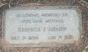 GATES HENRY, BERNICE E. - Coconino County, Arizona | BERNICE E. GATES HENRY - Arizona Gravestone Photos