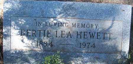 HEWETT, BERTIE LEA - Coconino County, Arizona   BERTIE LEA HEWETT - Arizona Gravestone Photos