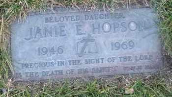 HOPSON, JANIE E. - Coconino County, Arizona   JANIE E. HOPSON - Arizona Gravestone Photos