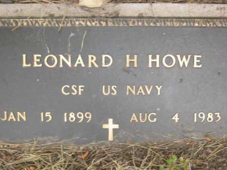 HOWE, LEONARD H. - Coconino County, Arizona | LEONARD H. HOWE - Arizona Gravestone Photos