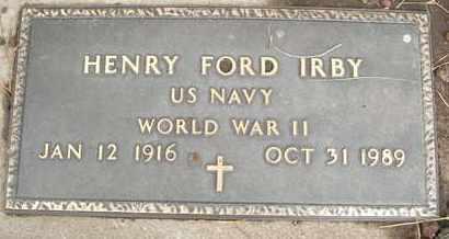 IRBY, HENRY FORD - Coconino County, Arizona   HENRY FORD IRBY - Arizona Gravestone Photos