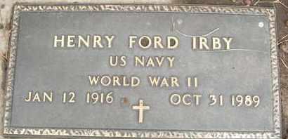 IRBY, HENRY FORD - Coconino County, Arizona | HENRY FORD IRBY - Arizona Gravestone Photos