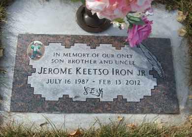 IRON, JEROME KEETSO, JR. - Coconino County, Arizona | JEROME KEETSO, JR. IRON - Arizona Gravestone Photos
