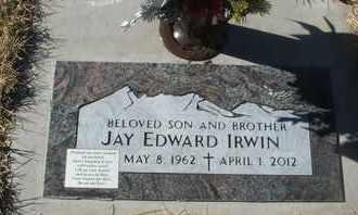 IRWIN, JAY EDWARD - Coconino County, Arizona | JAY EDWARD IRWIN - Arizona Gravestone Photos