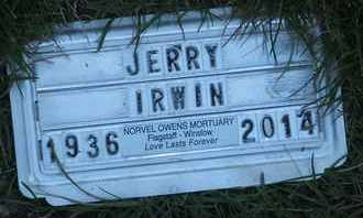 IRWIN, JERRY - Coconino County, Arizona | JERRY IRWIN - Arizona Gravestone Photos