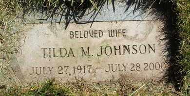 JOHNSON, TILDA M. - Coconino County, Arizona | TILDA M. JOHNSON - Arizona Gravestone Photos
