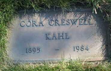 CRESWELL KAHL, CORA - Coconino County, Arizona | CORA CRESWELL KAHL - Arizona Gravestone Photos