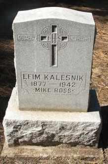 KALESNIK, EFIM - Coconino County, Arizona   EFIM KALESNIK - Arizona Gravestone Photos