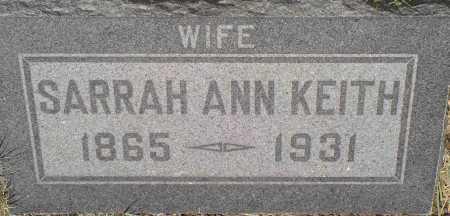 HATLEY KEITH, SARRAH ANN - Coconino County, Arizona | SARRAH ANN HATLEY KEITH - Arizona Gravestone Photos