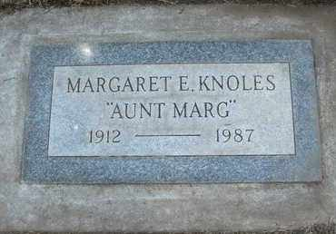 KNOLES, MARGARET E. - Coconino County, Arizona | MARGARET E. KNOLES - Arizona Gravestone Photos