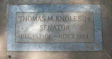 KNOLES, JR., THOMAS M. - Coconino County, Arizona | THOMAS M. KNOLES, JR. - Arizona Gravestone Photos