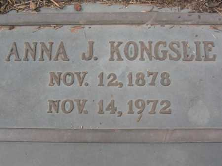 KONGSLIE, ANNA J. - Coconino County, Arizona | ANNA J. KONGSLIE - Arizona Gravestone Photos