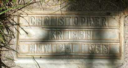 KRIEGH, CHRISTOPHER - Coconino County, Arizona | CHRISTOPHER KRIEGH - Arizona Gravestone Photos