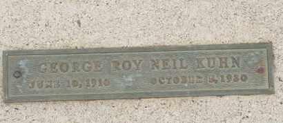 KUHN, GEORGE ROY NEIL - Coconino County, Arizona   GEORGE ROY NEIL KUHN - Arizona Gravestone Photos