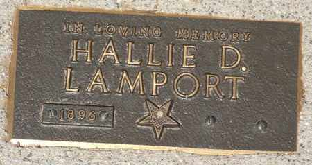 LAMPORT, HALLIE D. - Coconino County, Arizona | HALLIE D. LAMPORT - Arizona Gravestone Photos