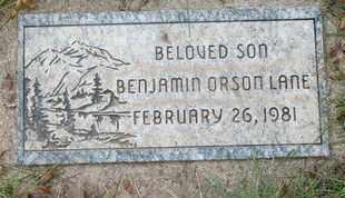 LANE, BENJAMIN ORSON - Coconino County, Arizona | BENJAMIN ORSON LANE - Arizona Gravestone Photos