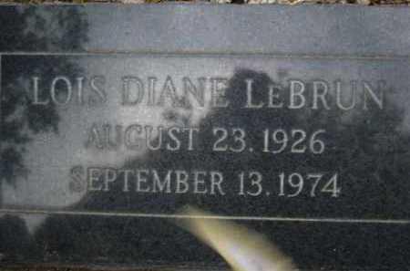 LEBRUN, LOIS DIANE - Coconino County, Arizona | LOIS DIANE LEBRUN - Arizona Gravestone Photos