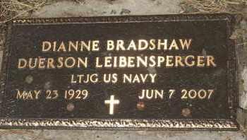 BRADSHAW DUERSON LEIBENSPERGER, DIANNE - Coconino County, Arizona | DIANNE BRADSHAW DUERSON LEIBENSPERGER - Arizona Gravestone Photos