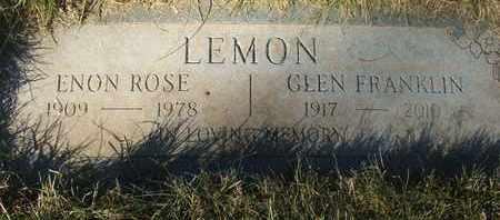 LEMON, ENON ROSE - Coconino County, Arizona | ENON ROSE LEMON - Arizona Gravestone Photos