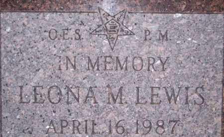 LEWIS, LEONA M - Coconino County, Arizona   LEONA M LEWIS - Arizona Gravestone Photos