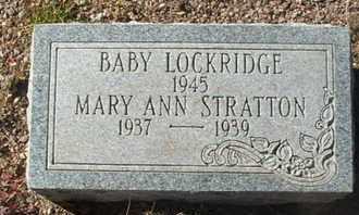STRATTON, MARY ANN - Coconino County, Arizona | MARY ANN STRATTON - Arizona Gravestone Photos
