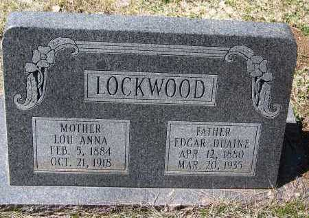 LOCKWOOD, LOU ANNA - Coconino County, Arizona   LOU ANNA LOCKWOOD - Arizona Gravestone Photos