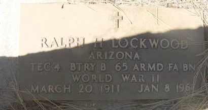 LOCKWOOD, RALPH H - Coconino County, Arizona   RALPH H LOCKWOOD - Arizona Gravestone Photos