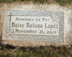 LOPEZ, DAISY RETANA - Coconino County, Arizona | DAISY RETANA LOPEZ - Arizona Gravestone Photos