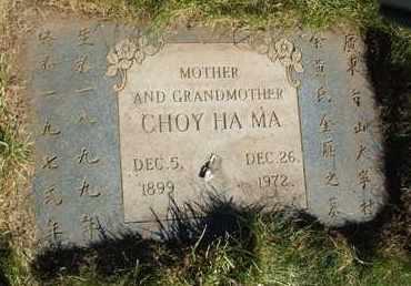 MA, CHOY HA - Coconino County, Arizona   CHOY HA MA - Arizona Gravestone Photos