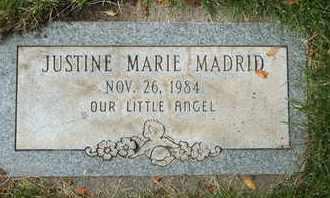 MADRID, JUSTINE MARIE - Coconino County, Arizona   JUSTINE MARIE MADRID - Arizona Gravestone Photos